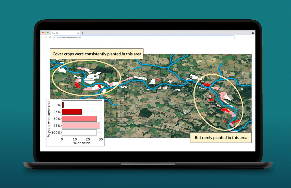 How can water companies monitor cover crops accurately?
